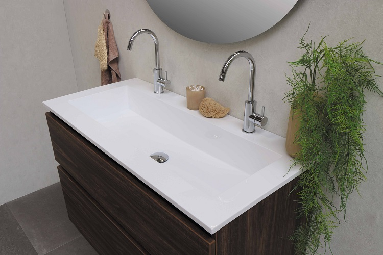 bathroom sink and fixtures