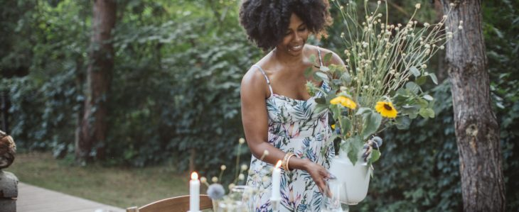 If you're wondering how to throw a bridal shower on a budget, keep an eye out for decor items that can create a theme−not the other way around.