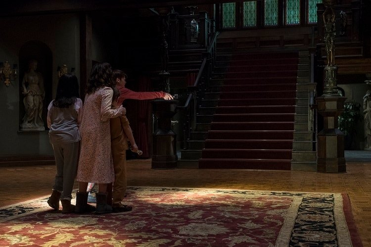 Inside the house in The Haunting of Hill House