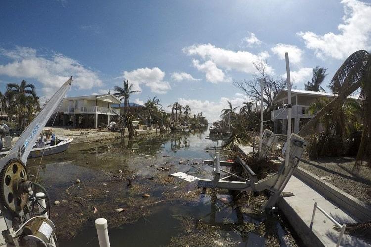 key west, florida, ravaged by hurricane irma
